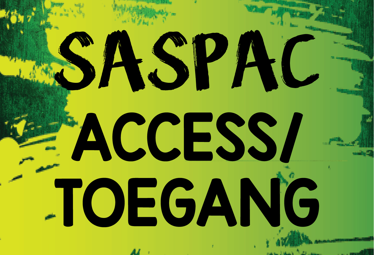 Saspac toegang access button